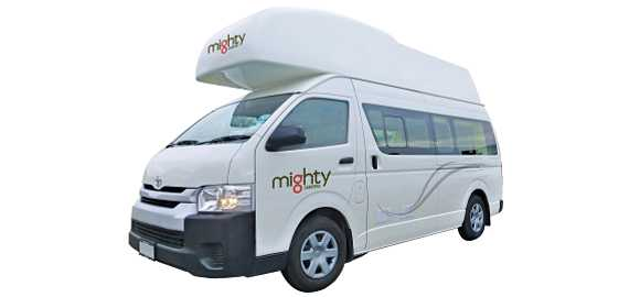 Side profile of the 4 Berth Double Down Campervan